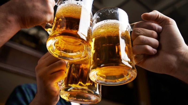 clinking beer steins
