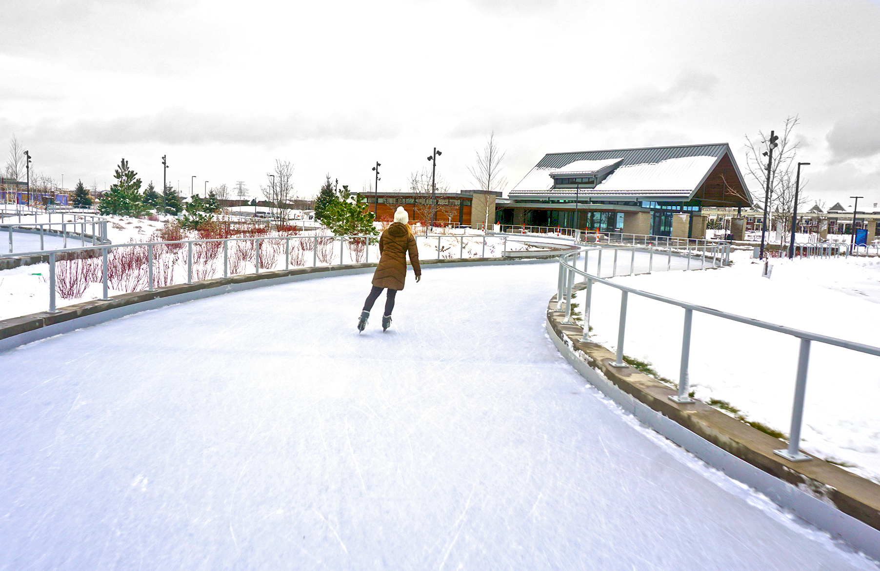 new ice skating trail is the coolest winter destination in