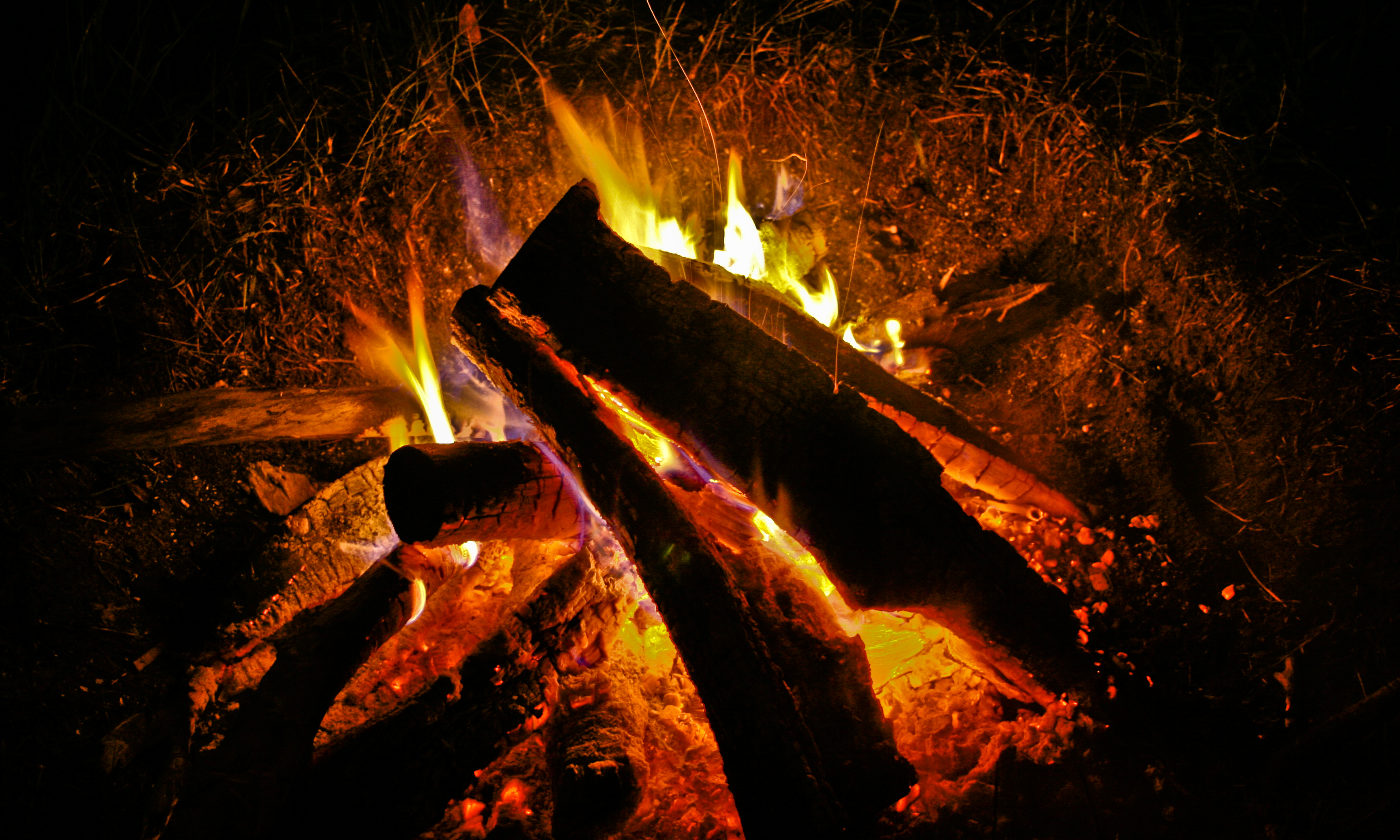 warm bonfire