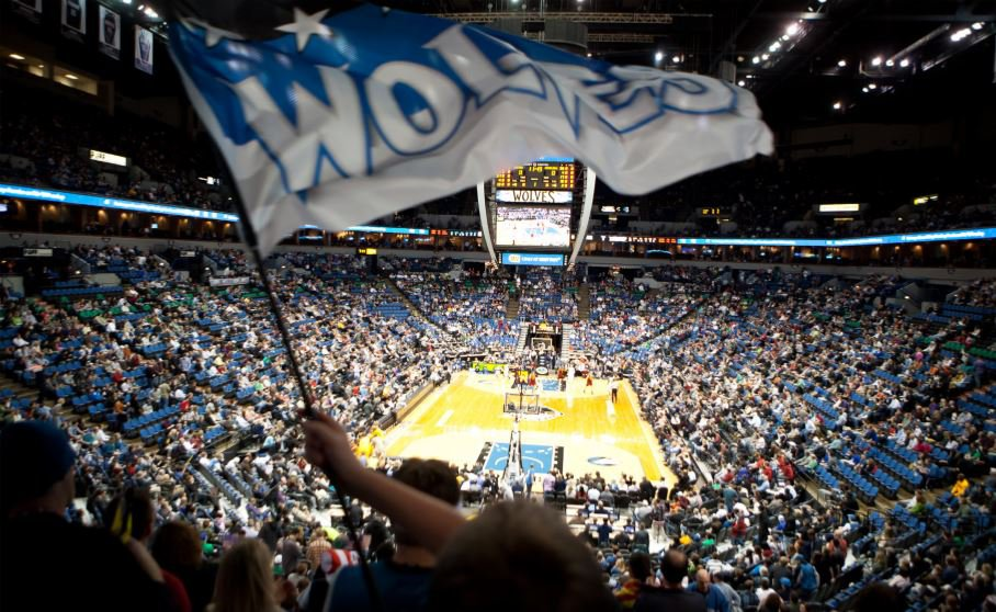 Inside stadium during Timberwolves game