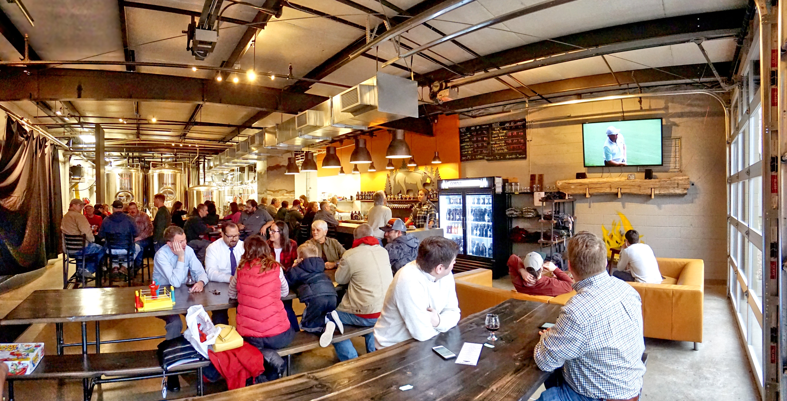 Crowd of people at OMNI Brewing