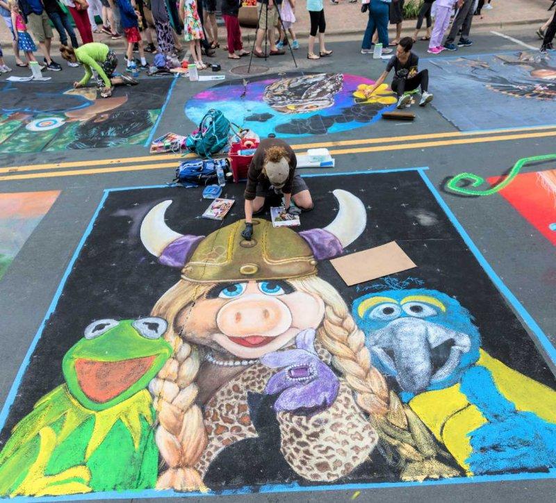 Chalkfest Muppets