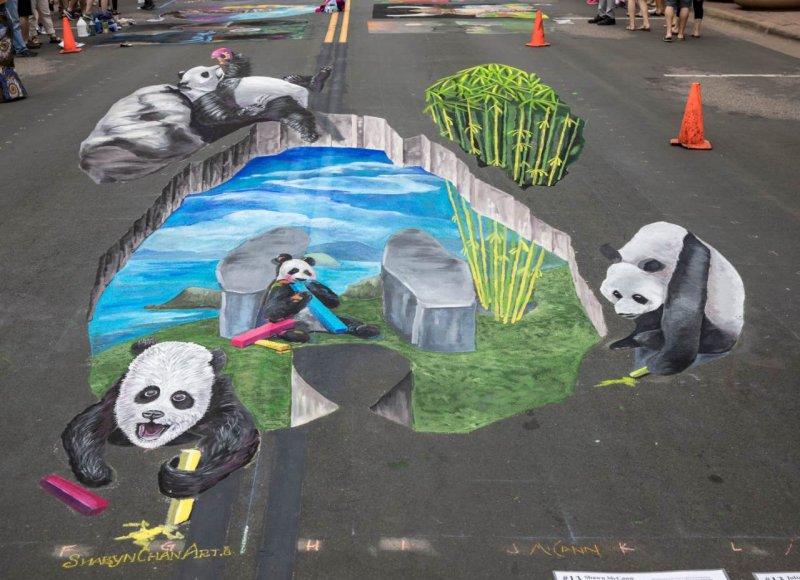 Chalkfest Pandas