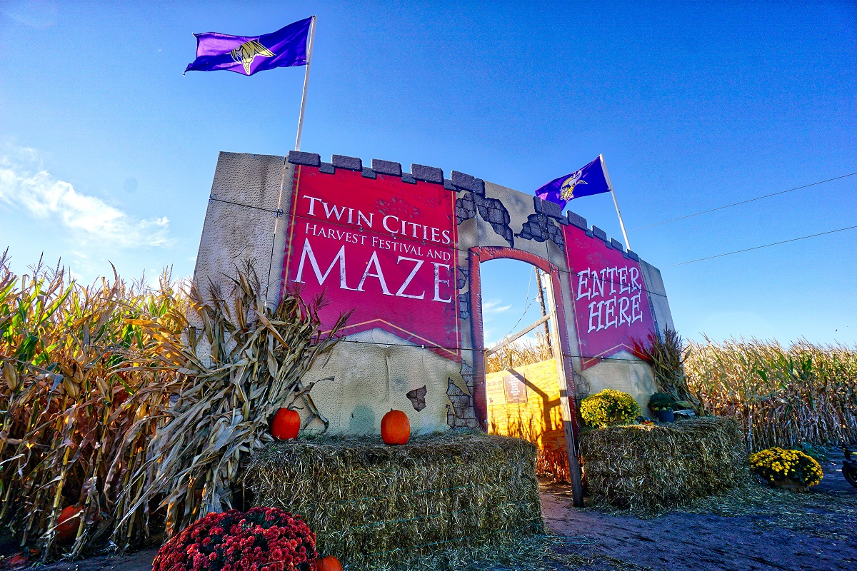 Entrance of Twin Cities Harvest Festival and Maze