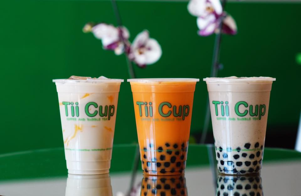 variety of flavors of bubble tea