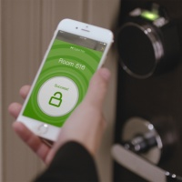 Visitors can check-in by simply swiping their phone with the Hilton Honors App.