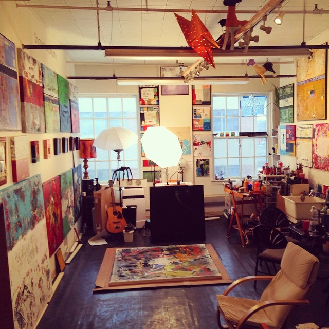 Variety of art in studio