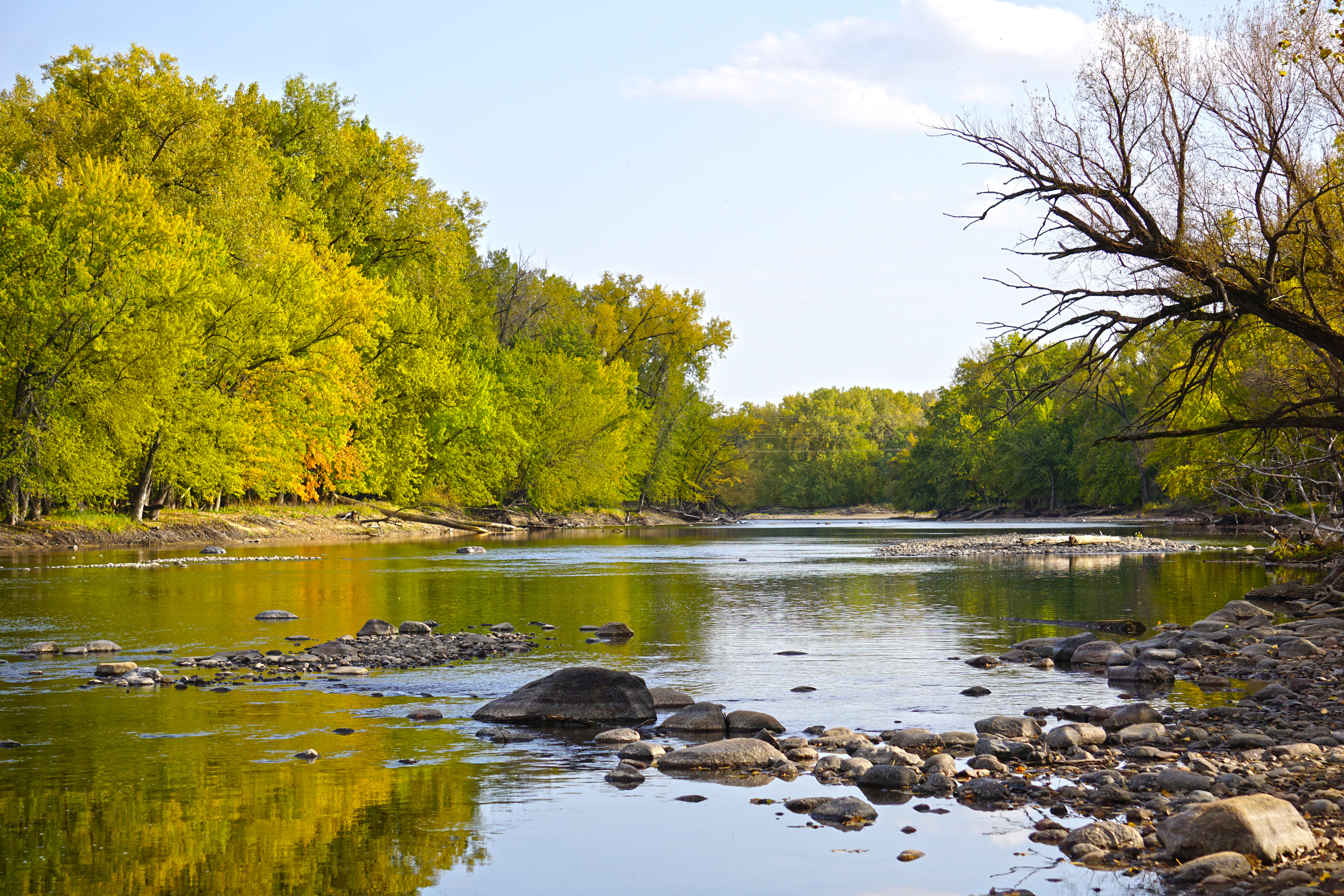 Mississippi River during the fall