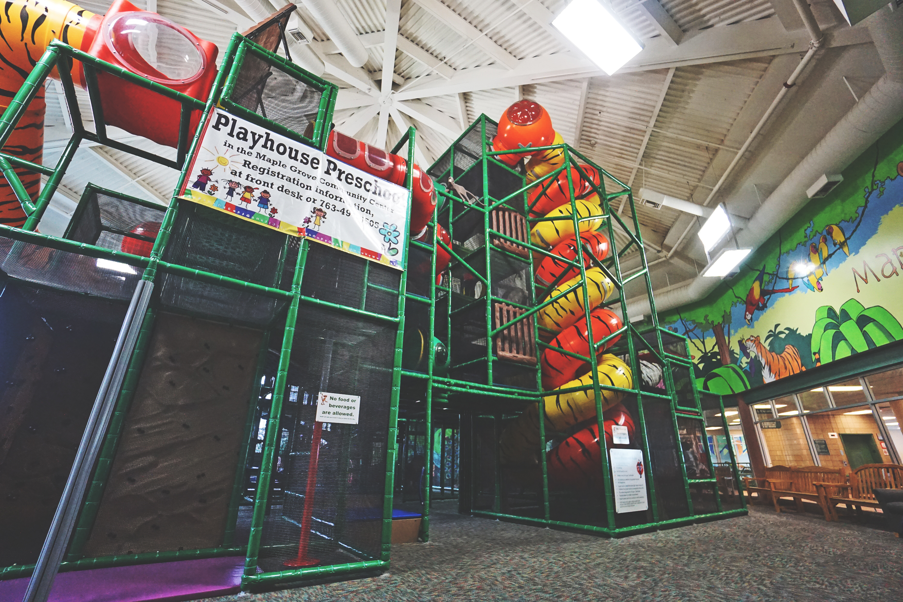 Large indoor jungle gym
