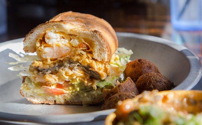 Sandwich from Crazy Cajun