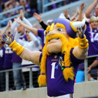 Mascot for the Minnesota Vikings football team