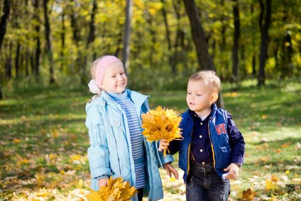 Kids in autumn