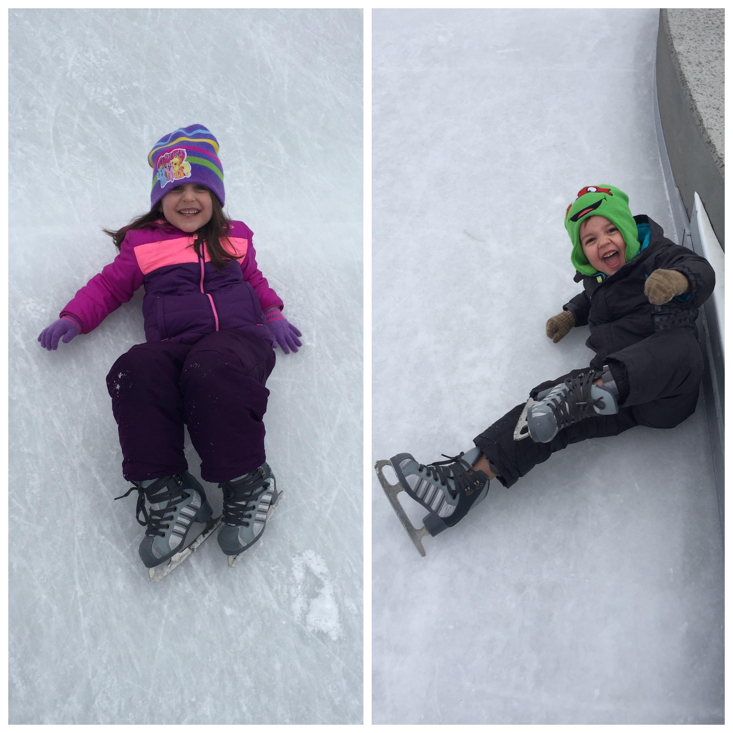 Kids Falling Ice Skating
