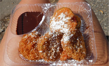 Fried pickles at the Minnesota State Fair