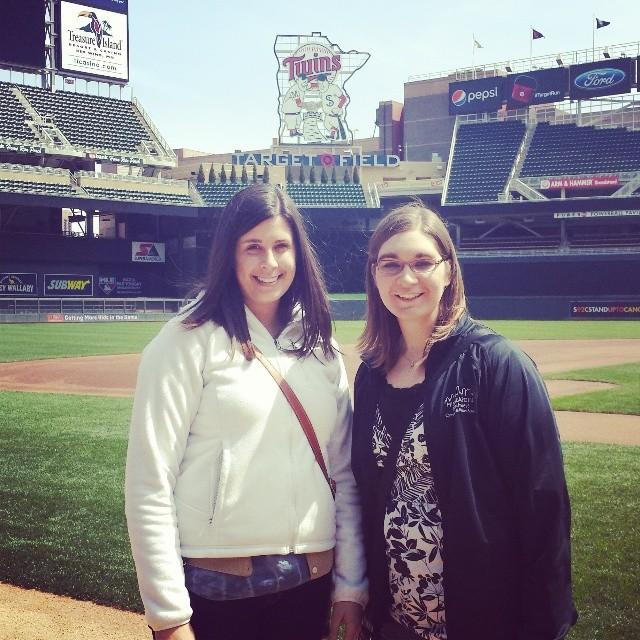 Target Field Danielle and Lindsay   Minneapolis Northwest